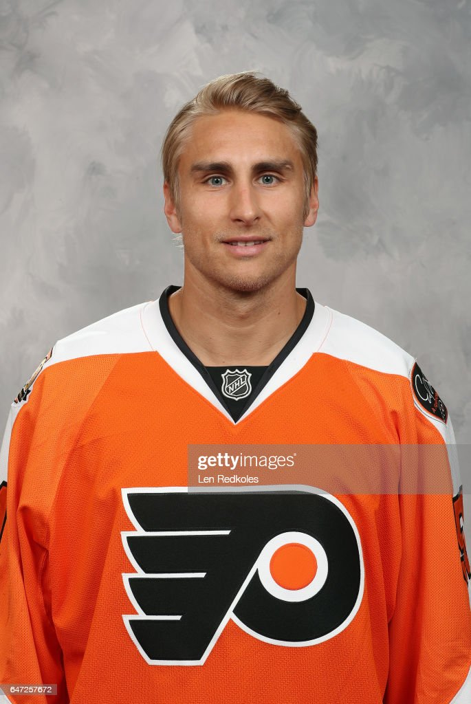 Valtteri Filppula #51 of the Philadelphia Flyers acquired at the trading deadline poses for his official headshot prior to his game against the Florida Panthers on March 2, 2017 at the Wells Fargo Center in Philadelphia, Pennsylvania.