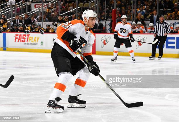 Valtteri Filppula of the Philadelphia Flyers skates against the Pittsburgh Penguins at PPG Paints Arena on November 27 2017 in Pittsburgh Pennsylvania