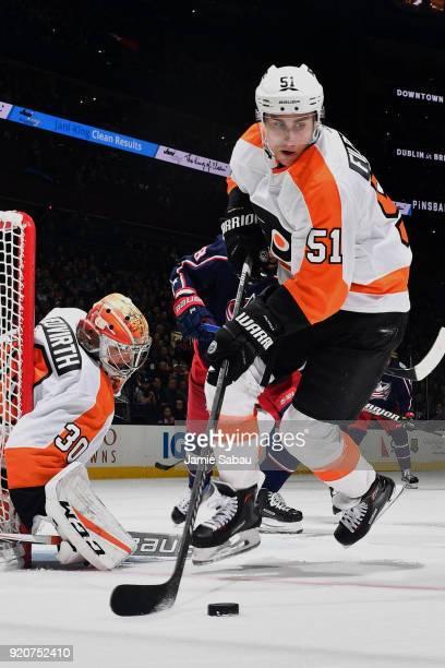 Valtteri Filppula of the Philadelphia Flyers skates against the Columbus Blue Jackets on February 16 2018 at Nationwide Arena in Columbus Ohio