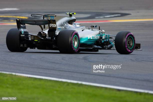Valtteri from Finland of team Mercedes GP during the Formula One Belgian Grand Prix at Circuit de SpaFrancorchamps on August 26 2017 in Spa Belgium
