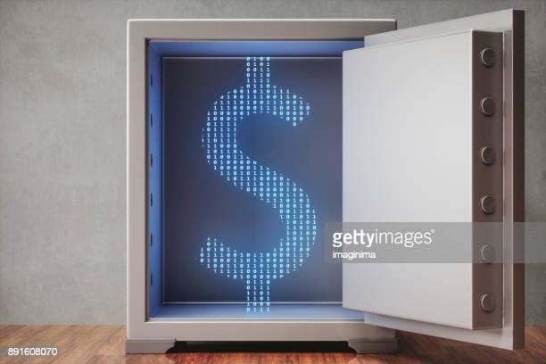 金庫に貴重なデジタル資産