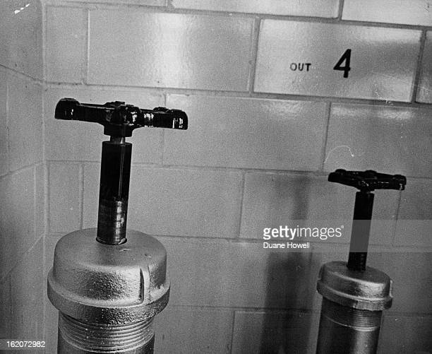 1966 JAN 31 1966 NOV 4 1966 NOV 5 1966 Valves with Special Purpose Valve at left lets acidwater mixture into vat beneath gas chamber floor prior to...