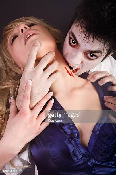 vampire couple - vampire stock photos and pictures