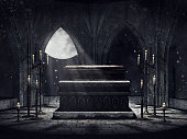 Vampire crypt with candles