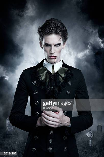 vampire - zombie face stock photos and pictures
