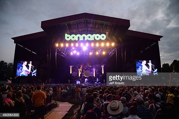Vampire Weekend performs at What Stage during day 2 of the 2014 Bonnaroo Arts And Music Festival on June 13 2014 in Manchester Tennessee