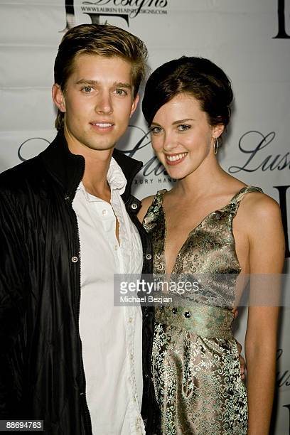 Van Agker and Heather Davis attend the LaurenElaine designs runway event>> at Le Doux on June 25 2009 in Los Angeles California