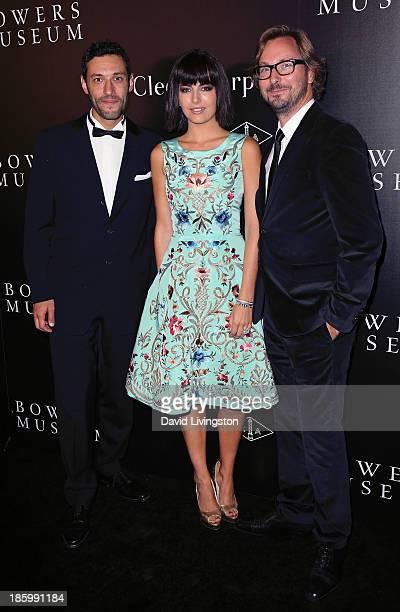 Van Cleef Arpels CEO of the Americas Alain Bernard actress Camilla Belle and Nicolas Bos Global CEO and Creative Director at Van Cleef Arpels attend...