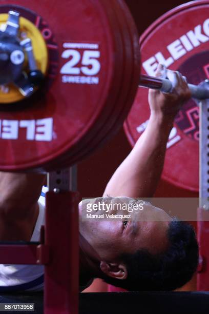 Van Cong Le of Vietnam competes during the Men's Up to 49Kg Group A Category as part of day 3 of the World Para Powerlifting Championship Mexico 2017...