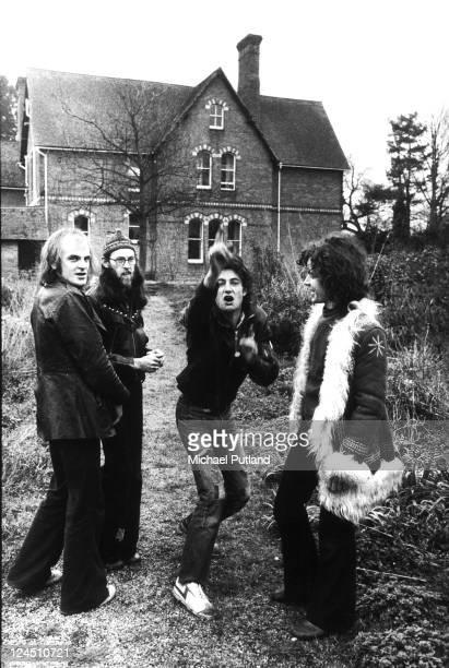 Van der Graaf Generator group portrait UK 5th April 1975 LR Guy Evans David Jackson Peter Hammill Hugh Banton