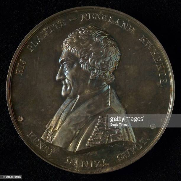 Van der Kellen, Medal in honor of H.D. Guyot and the 50th anniversary of the Institute for the Deaf and Mute in Groningen, penning footage silver,...