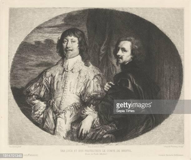 Van Dyck et Son Protecteur le Comte de Bristol, Leopold Flameng, 1831–1911, French, after Sir Anthony Van Dyck, 1599–1641, Flemish, active in Britain...