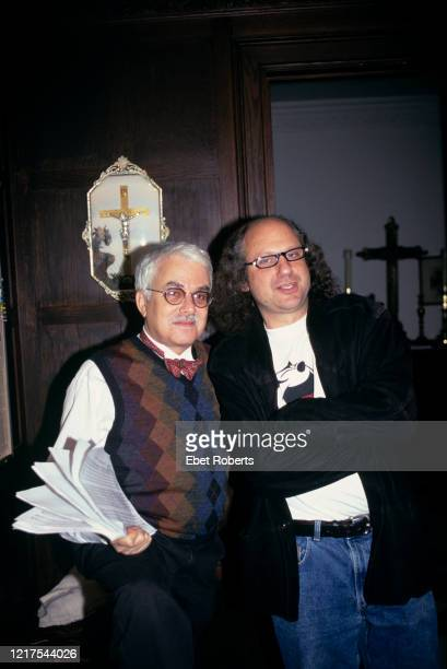 Van Dyke Parks and producer Hal Willner at at Harry Smith Tribute Concert at St Ann's Church in Brooklyn New York on November 12 1999