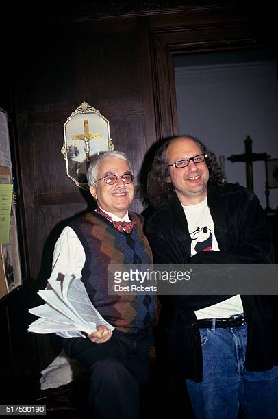 Van Dyke Parks and producer Hal Willner at Harry Smith Tribute Concert at St Ann's Church in Brooklyn New York on November 12 1999