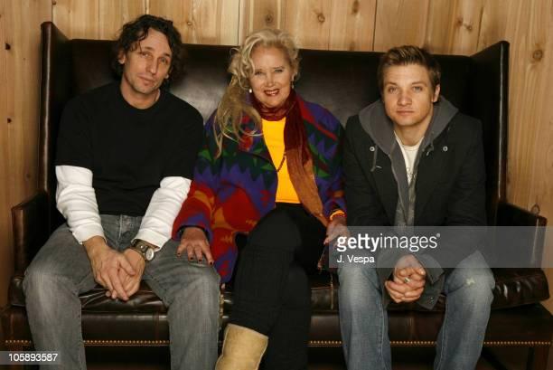 Van Fischer Sally Kirkland and Jeremy Renner during 2006 Slamdance Film Festival 'Neo Ned' Portraits at WireImage Portrait Studio in Park City Utah...
