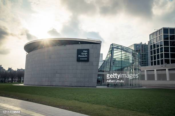 van gogh museum, amsterdam, netherlands - vincent van gogh pintor imagens e fotografias de stock