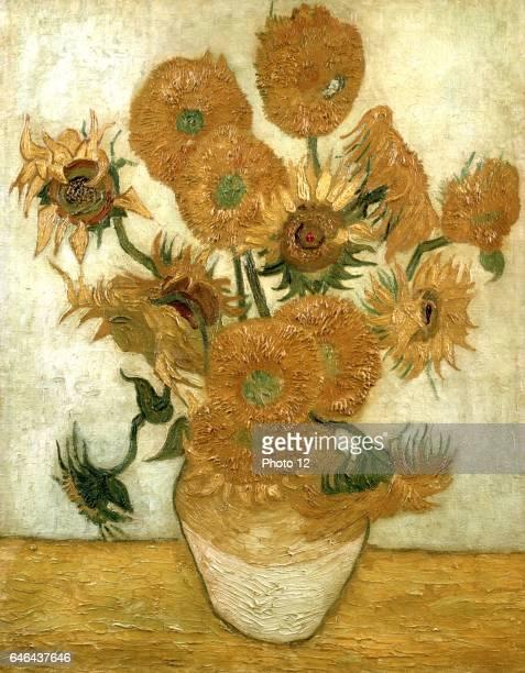 Van Gogh Vase with Fifteen Sunflowers