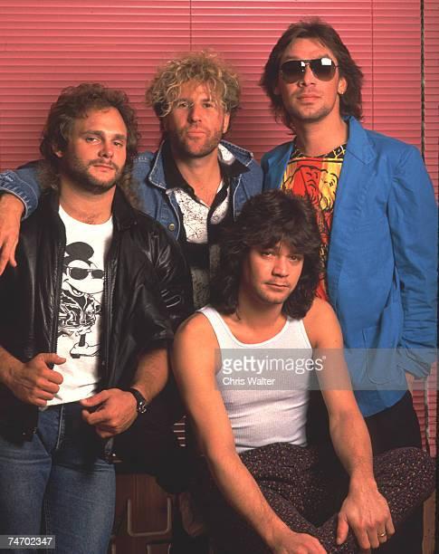 Van Halen 1985 Michael Anthony Sammy Hagar Eddie Van Halen Alex Van Halen during Music File Photos 1980's at the Music File Photos 1980's in Los...