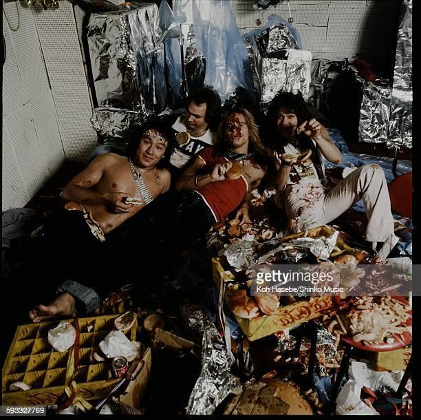 Van Halen at Studio shooting Tokyo September 1979
