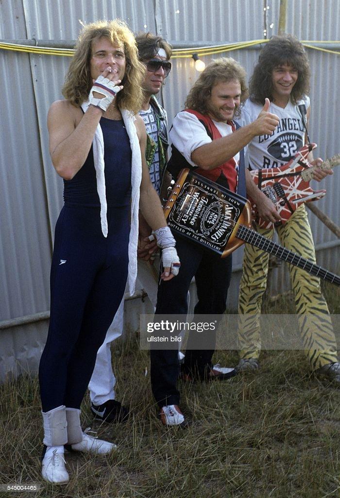 Van Halen - Band, Hardrock, USA - at the Donington Rock Festival, UK - 18.08.1984 : News Photo