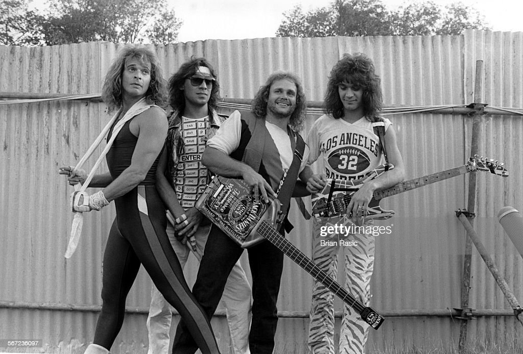 Van Halen - David Lee Roth, Alex Van Halen, Michael Anthony And Eddie Van Halen - 1980S : News Photo