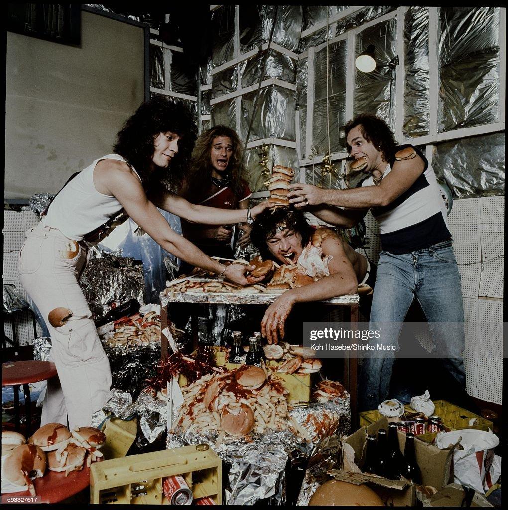 Van Halen Enjoying A Feast : News Photo