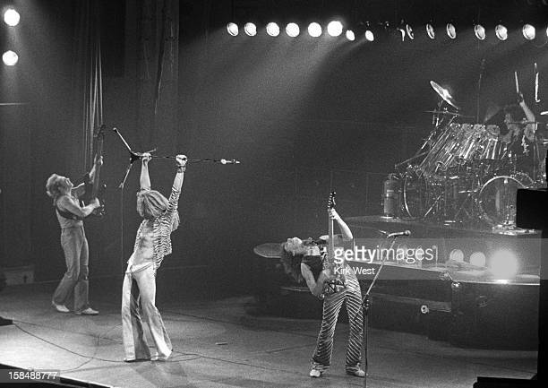 Van Halen peforms at the Aragon Ballroom Chicago Illinois April 26 1979
