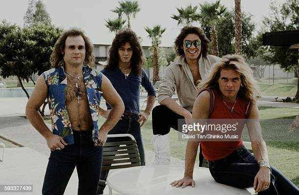 Van Halen posing in the United States in the city unknown 1978