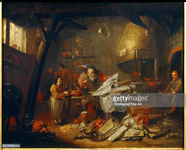 Van Helmont Mattheus Alchemist at Work Montpellier Fabre Museum