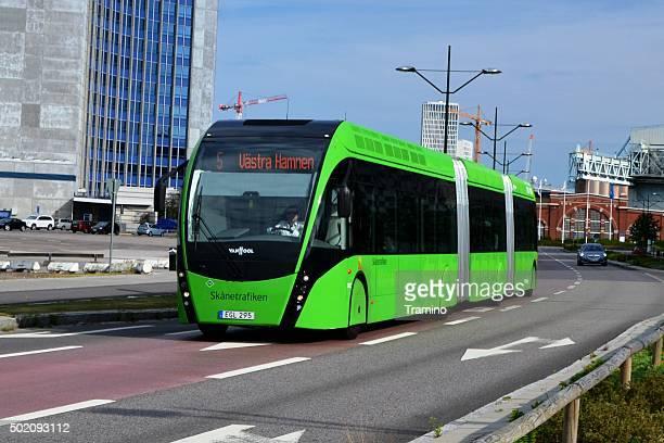 Van Hool Exqui.City tram-bus on the road