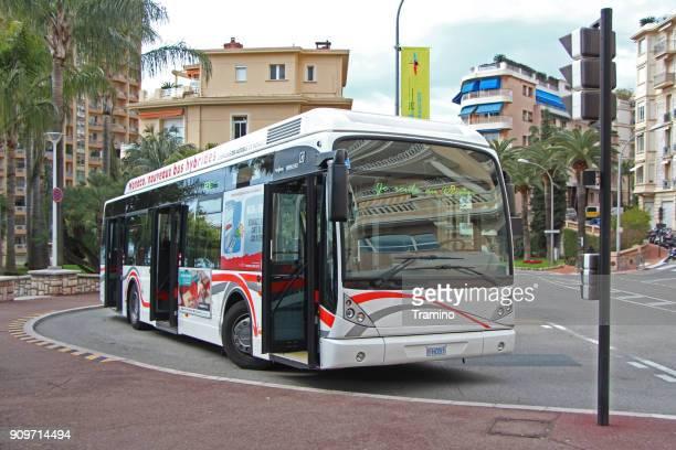 Van Hool Newa A330 hybrid bus in Monte Carlo