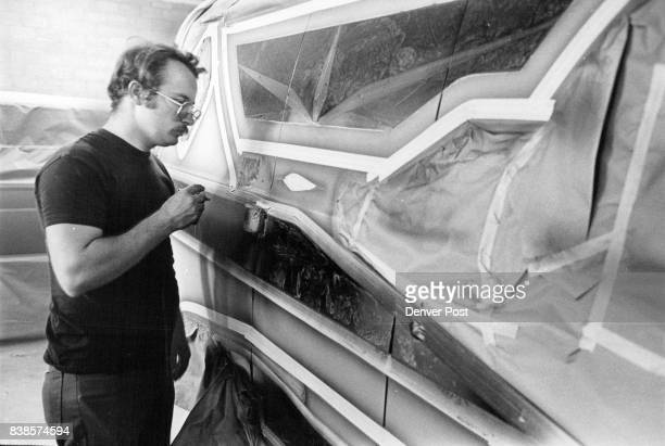 Van is About to be transformed into moving canvas as Blaylock begins his work Common themes he uses include science fiction motifs nature and...