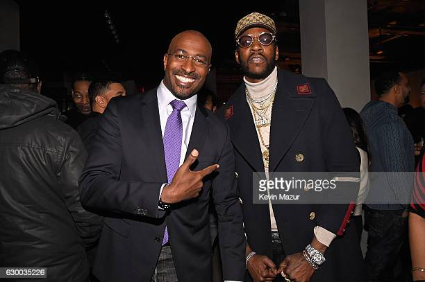 Van Jones and 2 Chainz attend The 2016 Def Jam Holiday Party sponsored by VH1 'The Breaks' Champs Sports Tanqueray 10 Zacapa Rum at Spring Place on...