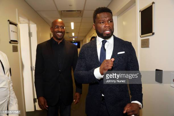 Van Jones and 50 Cent attend ABC's For Life New York Premiere at Alice Tully Hall Lincoln Center on February 05 2020 in New York City