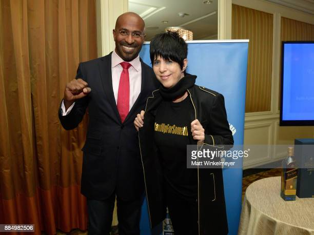 Van Jones and Diane Warren attend ACLU SoCal Hosts Annual Bill of Rights Dinner at the Beverly Wilshire Four Seasons Hotel on December 3 2017 in...