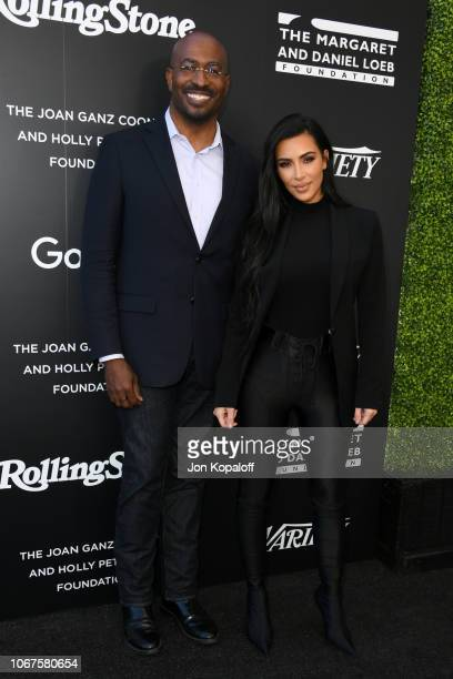 Van Jones and Kim Kardashian attend the 1st Annual Criminal Justice Reform Summit cohosted by Variety and Rolling Stone at 1 Hotel West Hollywood on...