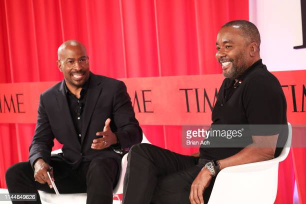 Van Jones and Lee Daniels participate in a panel discussion during the TIME 100 Summit 2019 on April 23 2019 in New York City