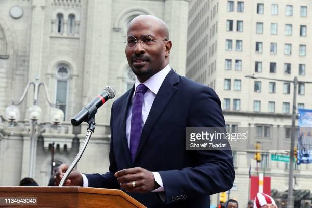Van Jones attends the REFORM alliance in Philadelphia at Philadelphia Municipal Services Building on April 2 2019 in Philadelphia Pennsylvania
