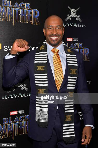 Van Jones attends the screening of Marvel Studios' 'Black Panther' hosted by The Cinema Society on February 13 2018 in New York City