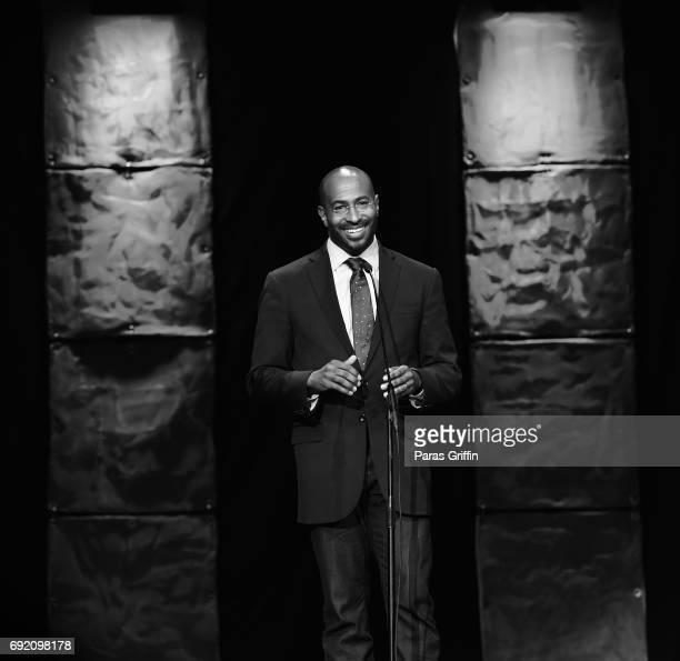 Van Jones onstage at 2017 Andrew Young International Leadership Awards and 85th Birthday Tribute at Philips Arena on June 3 2017 in Atlanta Georgia