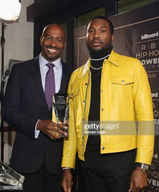 Van Jones presents Meek Mill with award onstage at the Billboard 2018 RB HipHop Power Players event at Legacy Records on September 27 2018 in New...