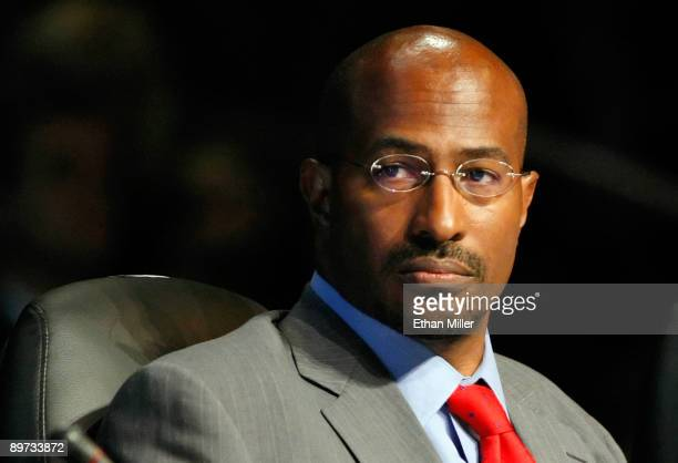 Van Jones with the White House Council on Environmental Quality speaks during the National Clean Energy Summit 20 at the Cox Pavilion at UNLV August...