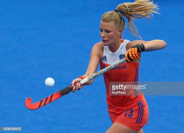 van MAASAKKER Caia of Netherlands in action during FIH Hockey Women's World Cup 2018 Day eight match Pool A game 22 between Italy and Netherlands at...
