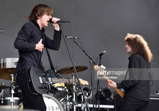 Van McCann and Benji Blakeway of Catfish and the Bottlemen perform during the 2019 Bonnaroo Music & Arts Festival on June 14, 2019 in Manchester,...