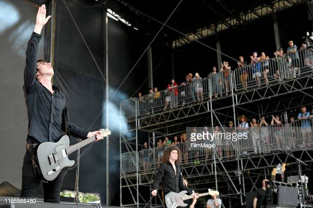 Van McCann and Benji Blakeway of Catfish And The Bottlemen performs on What Stage during the 2019 Bonnaroo Arts And Music Festival on June 14, 2019...
