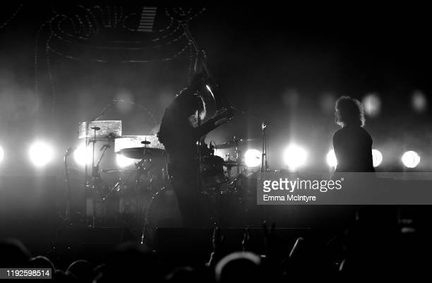 Van McCann and Benji Blakeway of Catfish and the Bottlemen performs onstage during KROQ Absolut Almost Acoustic Christmas 2019 at Honda Center on...