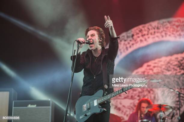 Van McCann of Catfish and the Bottlemen headlines Community Festival at Finsbury Park on July 1 2017 in London England