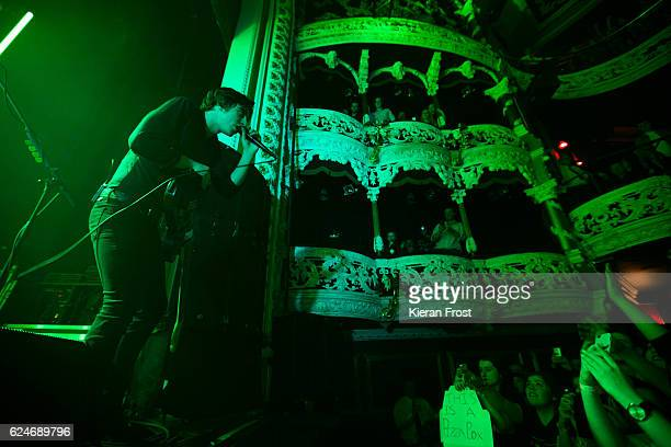 Van McCann of Catfish and the Bottlemen perform at the Olympia Theatre on November 20 2016 in Dublin Ireland