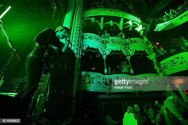 Van McCann of Catfish and the Bottlemen perform at the Olympia Theatre on November 20, 2016 in Dublin, Ireland.