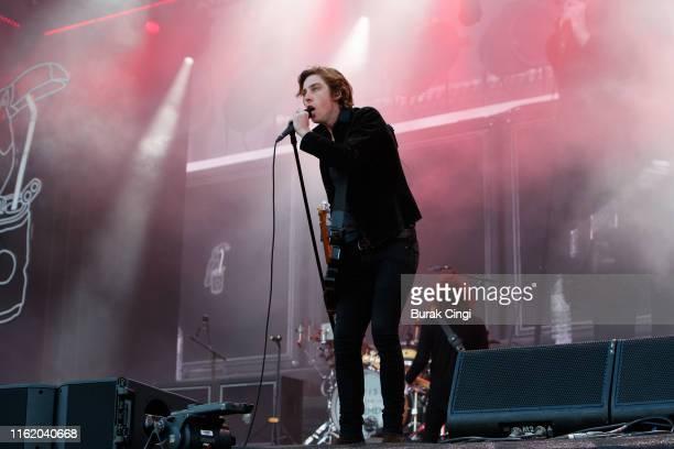 Van McCann of Catfish and the Bottlemen performs at Citadel Festival at Gunnersbury Park on July 14 2019 in London England